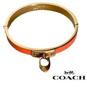 COACH Signature Charm Hinged Bangle Bracelet
